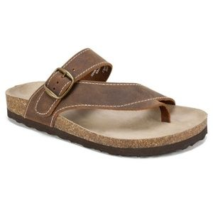 White Mountain Leather Carly Sandals